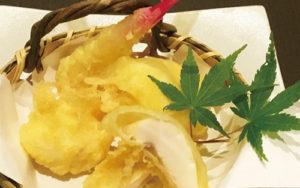 お!・これは珍しい秋鮭の白子の天ぷらです